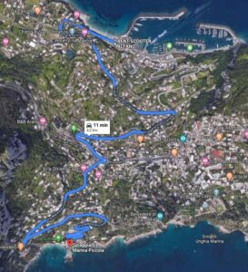 Marina-Piccola-Capri-Itinerario